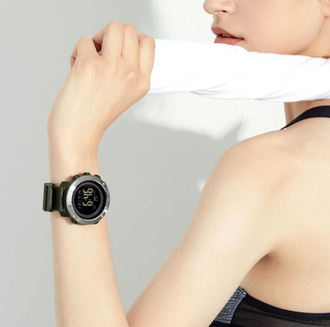 Наручные часы Xiaomi ALIFIT Space-time bird multifunctional sports electronic watch зеленые