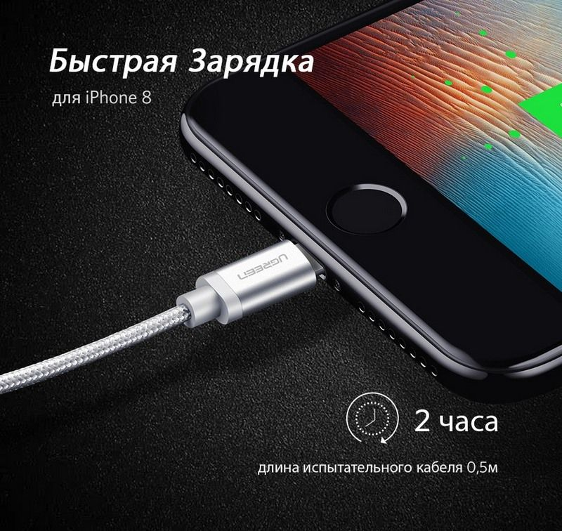 Ugreen MFi Lightning провод для iPhone купить
