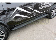 Пороги на Toyota FORTUNER (2017-…) Black Optima