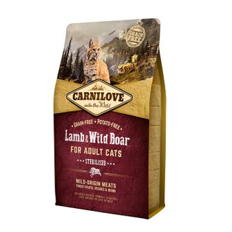 Сухой корм для кошек Carnilove Lamb & Wild Boar Sterilised for adult cats 6 кг