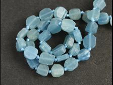 Бусина Кальцит голубой, плоская, свободная форма 10*8*4 мм (1 шт) №16062