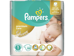 Подгузники Pampers Premium Care №1 2-5 кг 88 шт.