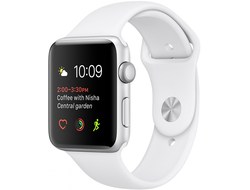 Apple Watch Series 1 42mm Silver Aluminium with White Sport Band