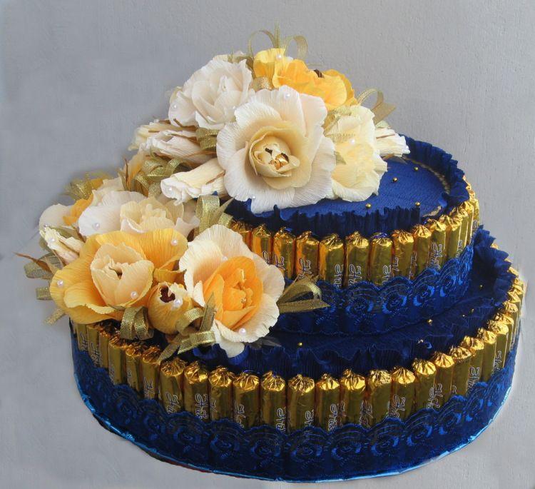 Конфетный тортик фото