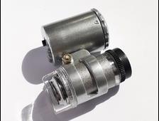 Микроскоп 60х портативный с подсветкой (светодиодная, ультрафиолетовая) №20013