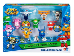 Super Wings Набор Команда Аэропорта 8 мини-трансформеров и 7 фигурок, YW710640