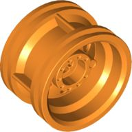 Wheel 30.4mm D. x 20mm with No Pin Holes and Reinforced Rim, Orange (56145 / 4495219 / 4539910 / 6207477)