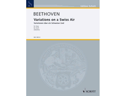 Beethoven Variations on a Swiss Air for harp