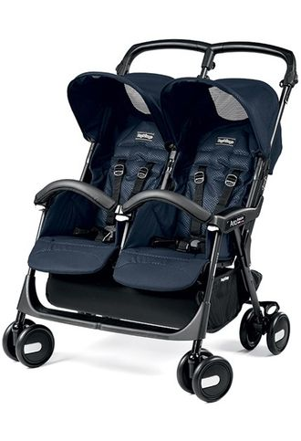 Прогулочная коляска Peg-Perego Aria Shopper Twin Geo Navy