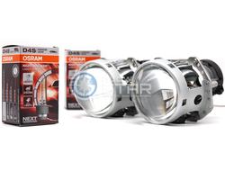 Комплект Hella 3R с ксеноновыми лампами D4S OSRAM 66440XNL Night Breaker Laser Xenarc (+200%)