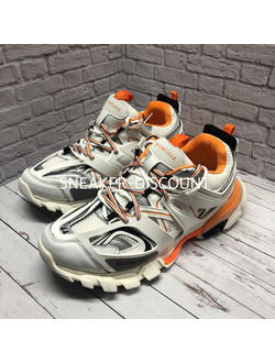BALENCIAGA TRACK WHITE ORANGE МУЖСКИЕ/ЖЕНСКИЕ