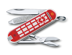 "Нож-брелок VICTORINOX Classic ""A Trip to London"", 58 мм, 7 функций"