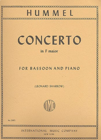 Hummel Bassoon Concerto F major