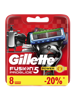 Сменная кассета Gillette Fusion5 ProGlide Power, 8 шт (Формула 1)