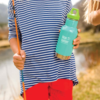 Детская термобутылка Klean Kanteen Kid Classic Loop 12oz (355 мл) Coastal Waters