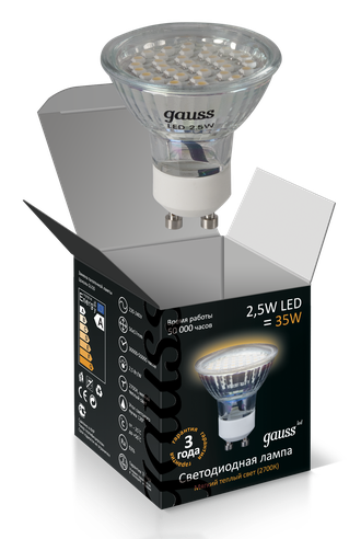 Gauss LED MR16 2.5w 827 220v GU10