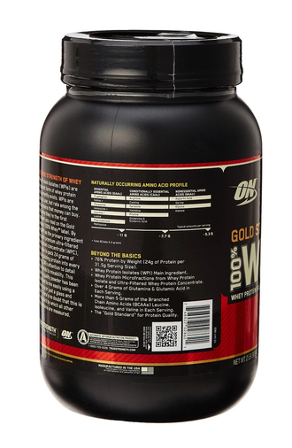 100% Whey Gold Standard 907 г состав
