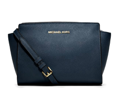 Сумка Michael Kors Selma mini синяя