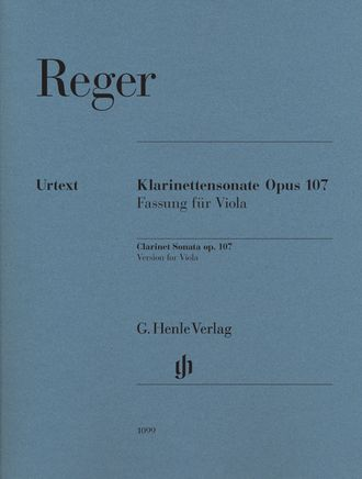 Reger Clarinet Sonata op. 107 ( Version for Viola)