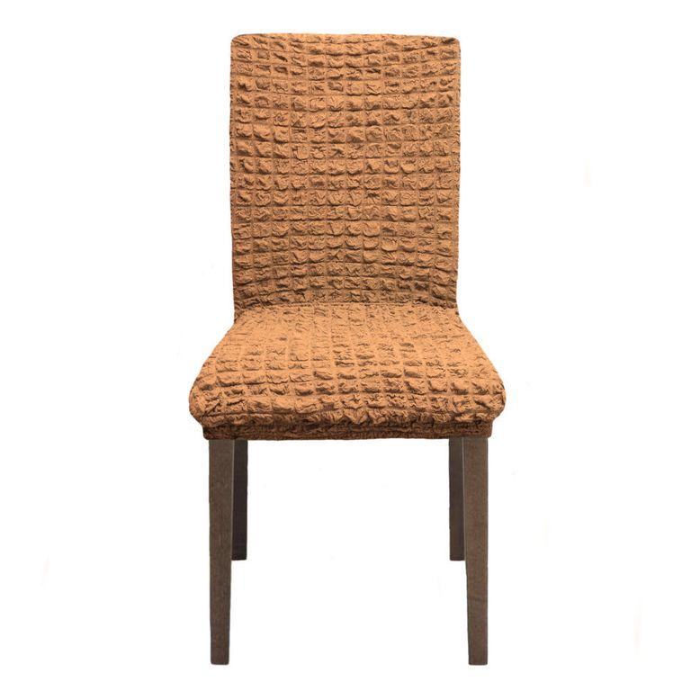 Чехлы на стулья без оборки, Коричневый 210
