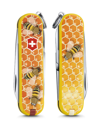 "Нож-брелок VICTORINOX Classic ""Honey Bee"", 58 мм, 7 функций"