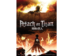 Постер Attack on Titan Атака на Титанов FP3463