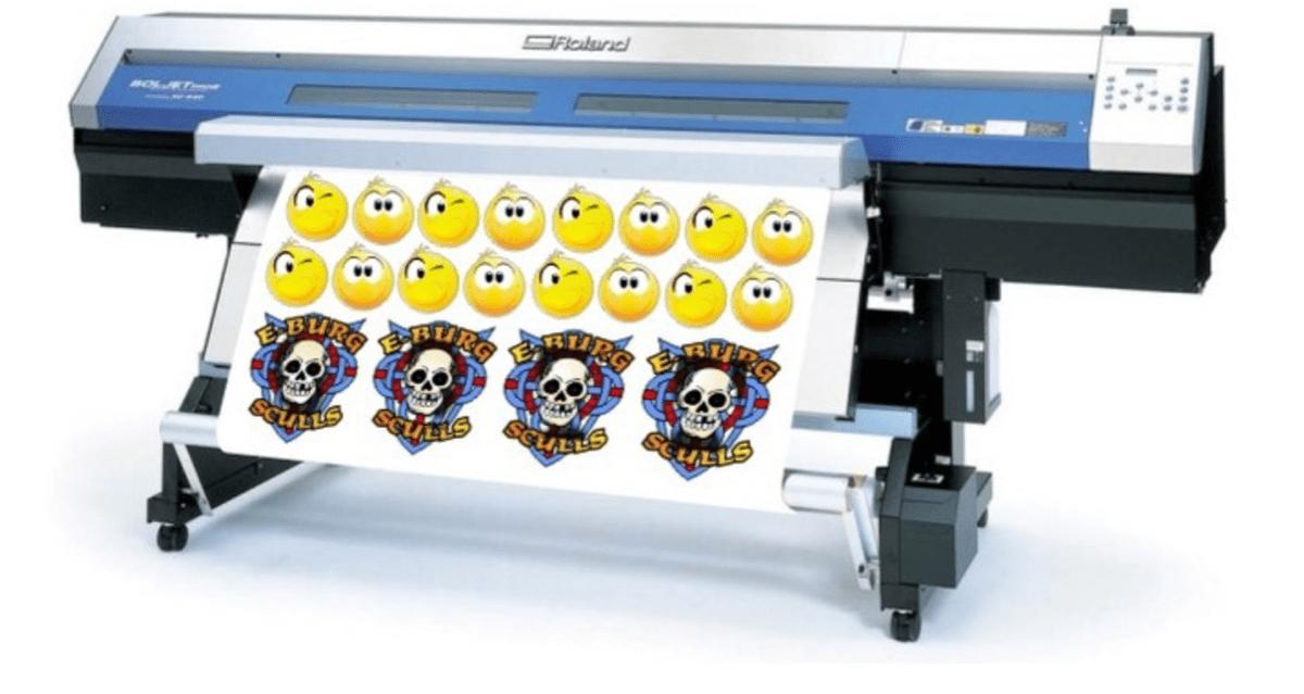 Как печатаются наклейки