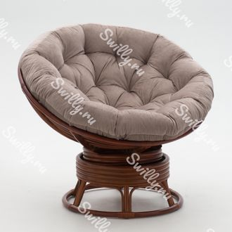 Кресло Swilly Swivel Papasan 3 орех