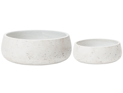Цветочное кашпо SIA CHALK FLOWER POT SMALL S/2 , 280096 , H13/9 D34/23