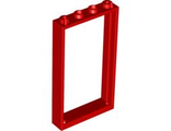 Door, Frame 1 x 4 x 6 with Two Holes on Top and Bottom, Red (60596 / 4550015 / 6262946)