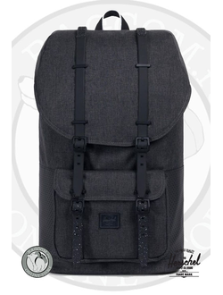 Herschel Little America Black Crosshatch/Black/White