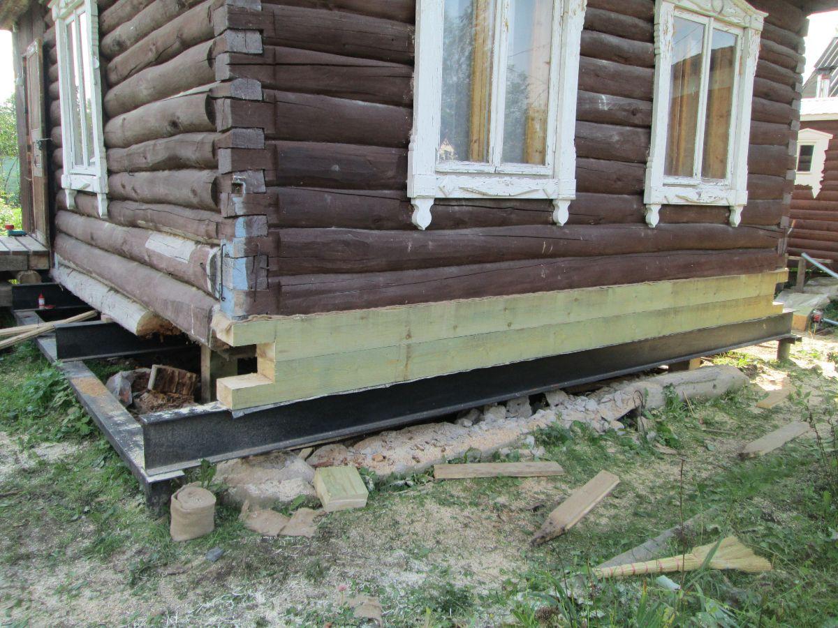 фото замены нижнего венца деревянного дома готовясь