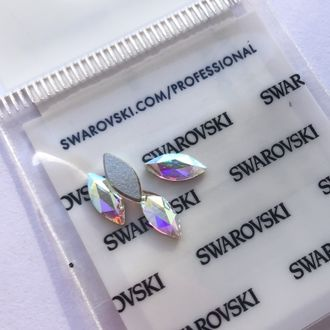 Swarovski Маркиза для маникюра 8*3,5 mm Crystal AB - 4 шт