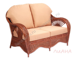 Диван плетеный из ротанга RP-02 цвет Antique Brown