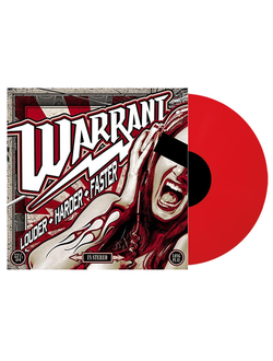 WARRANT Louder harder faster LP RED