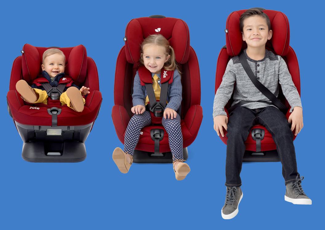 Joie Stages Fix комфортное и безопасное автокресло для ребенка от рождения до 7 лет.