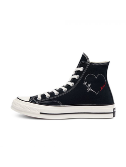 Кеды Converse Chuck 70 Valentine's Day High Top женские черные