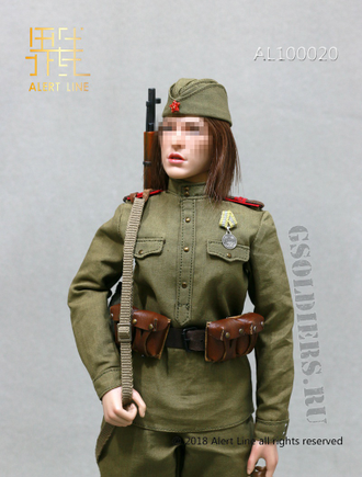 Девушка-снайпер фигурка 1/6 WWII The Soviets Female Soldier Sniper Set (AL100020) - Alert Line
