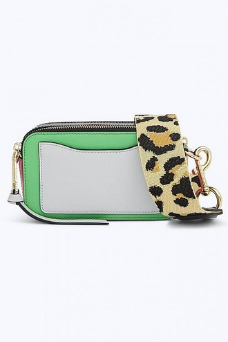 MARC JACOBS Snapshot Leather Camera Bag Jade/Multi