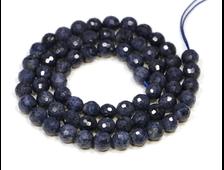 Бусина Корунд синий, шар граненый 6 мм (1 шт) №22872