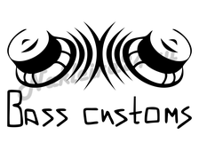 Наклейка Bass Customs