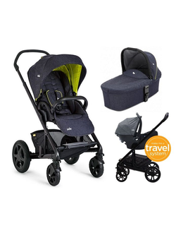 Joie Chrome DLX 3 в 1 автокресло Gemm + люлька Carrycot Travel System