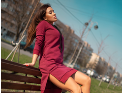 "Платье Bona Fide: Bona&Gonna Dress ""Red Plum Melanje"""