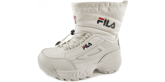Дутики FILA FLEECE White с мехом