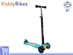 САМОКАТ SCOOTER COLOR ZH (СИНИЙ ГРАФФИТИ) Kiddy-bikes