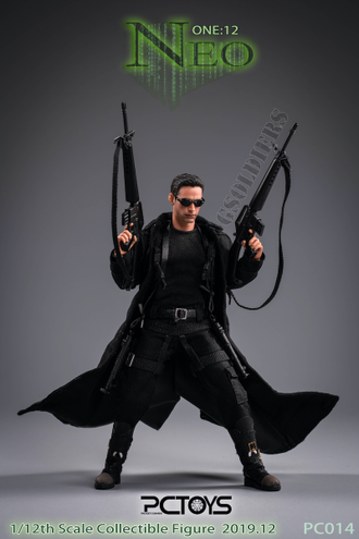 Нео Матрица Киану Ривз фигурка 1/12 scale The hacker killer Neo The Matrix Keanu Reeves PC014 PCTOYS