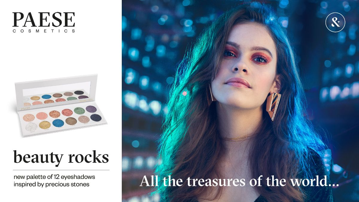 ПАЛИТРА ТЕНЕЙ ДЛЯ ВЕК BEAUTY ROCKS EYESHADOWS PALETTE PAESE (12 PIECES)