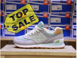 New Balance 574 Blue - mint
