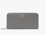 Prada Metallic Gold Wallet Marble