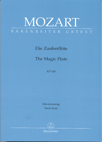 "Mozart ""The Magic Flute"" KV 620 vocal score"